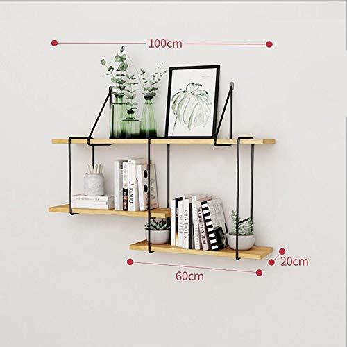 MTX Ltd Regal Wandhalterung von 3 Tier SOID Holz Regale für Schlafzimmer, Wohnzimmer, Bad, Küche, Büro und Mehr 4 Größen Sehr Langlebig, 100CM -