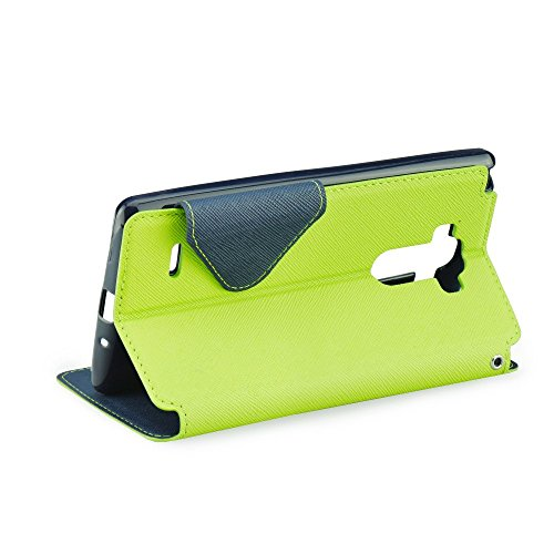 S-VIEW BOOK CASE ROAR FANCY für Apple iPhone 7 Plus Cover Handy Tasche Flipcase Etui Buchform Kunststoff Silikon Halterung für Kreditkarten (schwarz) grün / dunkelblau