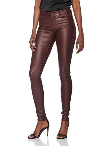 VERO MODA Damen Hose Vmseven NW SS Smooth Coatclr Pant Noos, Braun (Decadent Chocolate), 38/L34 (Herstellergröße: M)