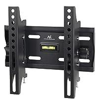 Maclean - Mc-667 - soporte fijo de pared para pantalla lcd led tv (13-42, 25 kg, vesa) color negro nivel incorporado