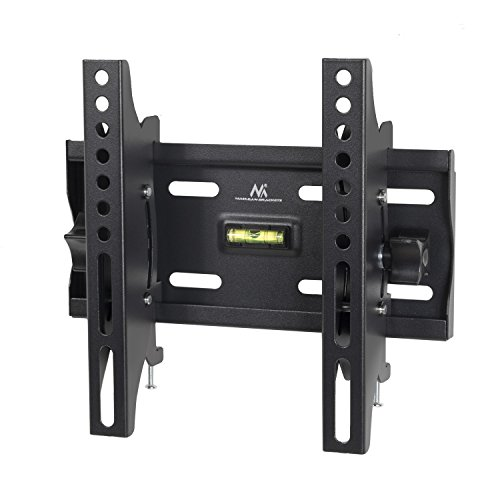 "Maclean - Mc-667 - soporte fijo de pared para pantalla lcd led tv (23-42"", 30kg, vesa) color negro nivel incorporado"