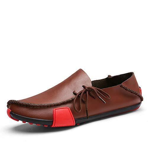 Mocassini Casual da Uomo semplici Flats Cuciture Moda Slip on Driving New Trend in Pelle Scarpe da Barca