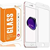 OpenTech® Edge to Edge Tempered Glass Screen Protector for Apple iPhone 6 / 6s with 3 Months Warranty (White Color)