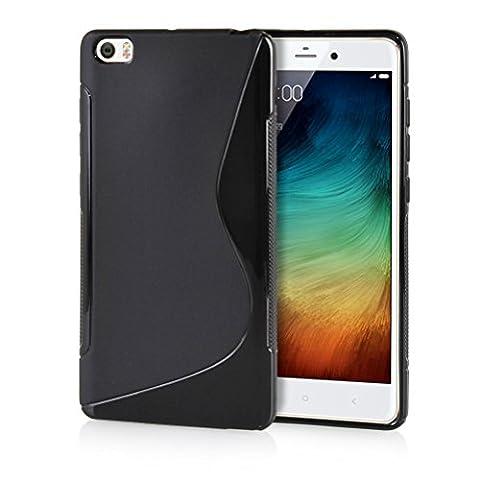 MOONCASE XiaoMi Mi Note Case Housse Gel TPU Étui pour XiaoMi Mi Note / Note Pro [S-Line] Silicone Cover Coque Noir
