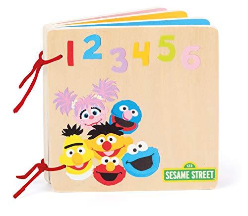 Small Foot Sesame Street Bois, certifié 100% FSC, pour bébés et Enfants à partir de 12 Mois. Livre à Images invitant à l´Apprentissage des Chiffres et des Couleurs. Jouets, 10968, Multicolore