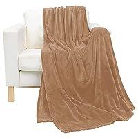 Luxury King Size Flannel Fleece Blanket, Brown