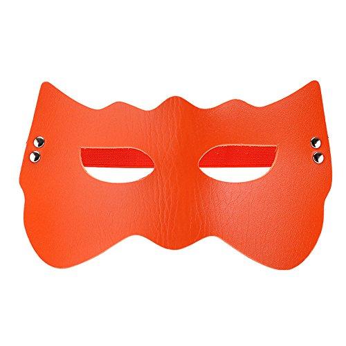 Sexuales Gafas Eye Patch Eyeshade Adult Sex Game MáScara Goggles Party Cosplay (Naranja)