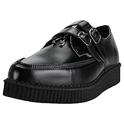 T.U.K. Zipper Pierced Pointed Creeper Hommes Chaussures Black - 43 EU PDaUza