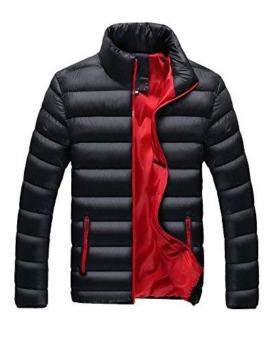 LaoZan Herren Steppmantel Oberbekleidung Winterjacke Jacke Steppjacke Sportjacke Warme Mantel L Schwarz