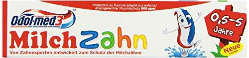 Odol-med 3 Milchzahn Zahncreme, 6er Pack (6 x 50 ml)
