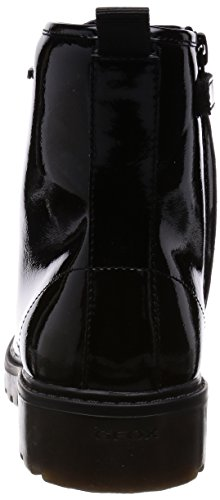 Geox J Casey Girl K Mädchen Combat Boots Schwarz (Black)