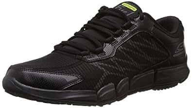 Skechers Men's Go Bionic Fuel Black Leather Gymnastics Shoes - 11 UK/India (46 EU) (12 US)