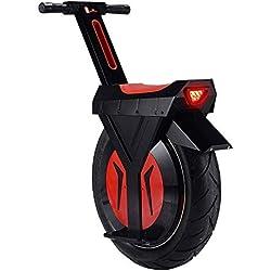 DBSCD Scooter eléctrico 500 vatios para Adultos. Uniciclo de Motocicleta con Ruedas D2: eléctrico con Grasa Simple. Neumático de Carga máxima de 550 lbs con batería de Litio de 60 V, Negro, 60 km.