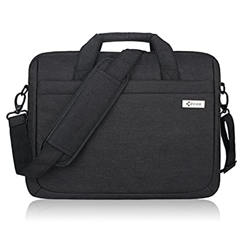 Zikee 13.3-14 Inch Multifunctional Laptop Protective Bag, Water Resistant 360° Shock-proof Laptop Shoulder Messenger Case with Handle , for Business, Traveling, College and Office