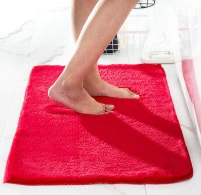 hte Kaninchen-Pelz-Teppich-Badezimmer-Matten-Badezimmer-Saugfähige Schlafzimmer-Tür-Matte 60Cm * 90Cm ()