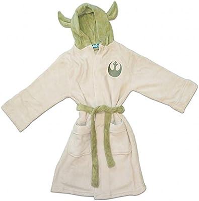 Groovy Uk - Albornoz para niño (talla S, 4-5 años), diseño de Yoda de Star Wars