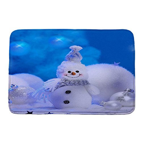 40 * 60cm Badematte, Yogogo Weihnachten HD bedruckte rutschfeste Badematte Absorbent Home Decor (E3)