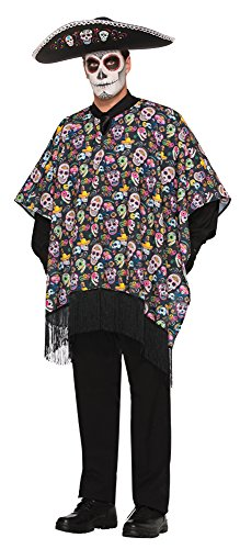 m Novelties 77145 Day of The Dead Sarape Kostüm, one Size ()