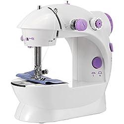 Máquina de coser eléctrica ONEVER de la máquina de coser portátil de 2 velocidades con la luz / el cortador / el pedal del pie para el principiante del recorrido del hogar