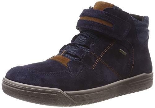 Superfit Jungen Earth Hohe Sneaker, Blau (Blau/Braun 80), 33 EU