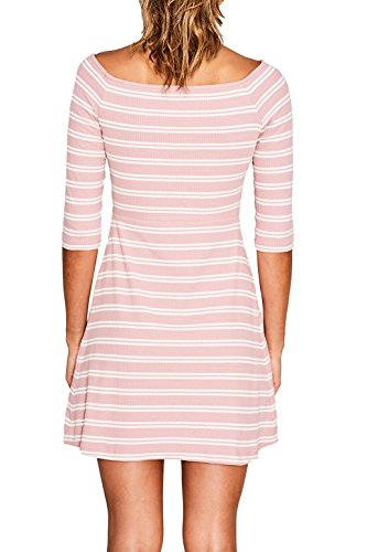 ESPRIT Damen Kleid Mehrfarbig (Old Pink 680)