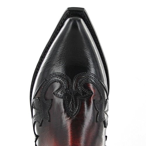 Sendra Boots 9396, Stivali western unisex adulto Multicolore (Negro Rojo)
