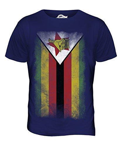 CandyMix Simbabwe Verblichen Flagge Herren T Shirt Navy Blau
