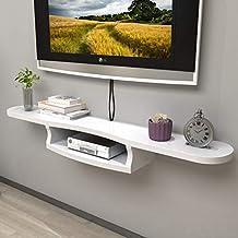 LTJTVFXQ-shelf Mueble de televisión de Pared Estante Flotante Estante de Pared Multimedia Router de