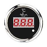 perfk Digital Elektrischer Öltemperaturanzeige Anzeige Sensor für Auto Motorrad, 50-150 Celsius