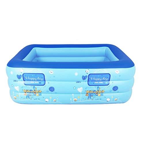 TYUIO Bañera de Color Azul Bañera de plástico Plegable portátil Bañera de remojo Bañera de hidromasaje SPA en casa Equipo con Bomba de Aire eléctrica