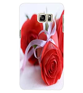 ColourCraft Beautiful Rose Design Back Case Cover for SAMSUNG GALAXY NOTE 5 EDGE