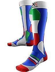 X-Socks Hombre xski Patriot skistrumpf, hombre, X-SOCKS SKI PATRIOT, Italy Blue Background