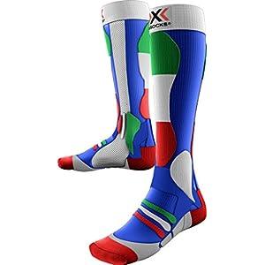 X–Calzini da sci da uomo Patriot skistrumpf, Uomo, X-SOCKS SKI PATRIOT, Italy Blue Background