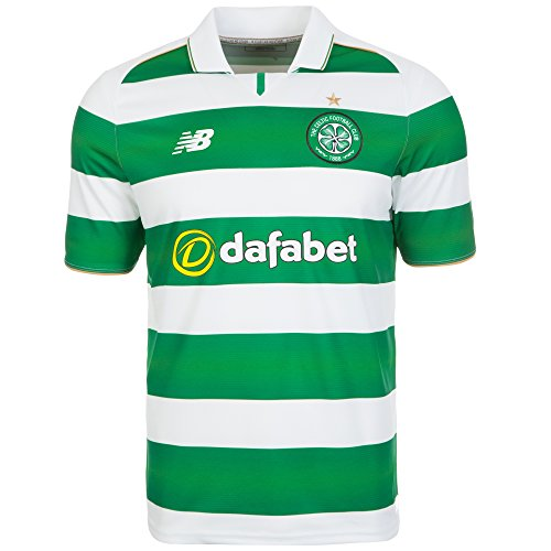 New Balance Celtic Glasgow Home Trikot (green/white, S) (Home Celtic Trikot)