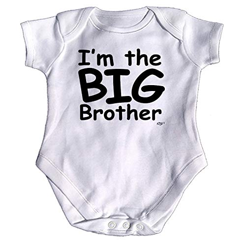 Big-brother-baby-strampelanzug (123t Lustiger Baby-Strampler - Jumpsuit Strampelanzug, Geschenk, Neuheit 1273 Gr. 6-12 Monate, Im The Big Brother Baby)