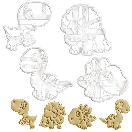 nosaurierbabys Ausstechformen (Formen: Tyrannosaurus Rex, Stegosaurus, Triceratops und Brachiosaurus), 4 Teile ()