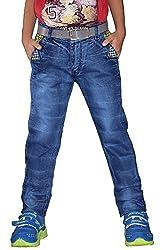 Vbirds Kids Blue Jeans for Boys/Girls (7-8yrs)