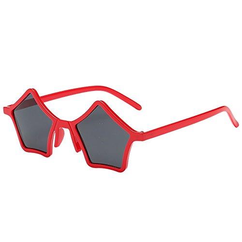 jgashf Sonnenbrille FüR Unisex, Verspiegeltes Polygon Luxury Farbverlauf Sonnenbrillen Mit FüNfeckig Design, Eyewear Elegante Damen Pilotenbrille Mit Strassstein (B)