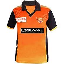 Roots4creation Men's and Women's Polyester Sunrisers Hyderabad Ipl T-Shirt (srh s, Orange, Small)