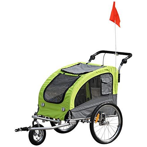 PawHut Remolque Bicicleta Perros Carro Cochecito Transporte