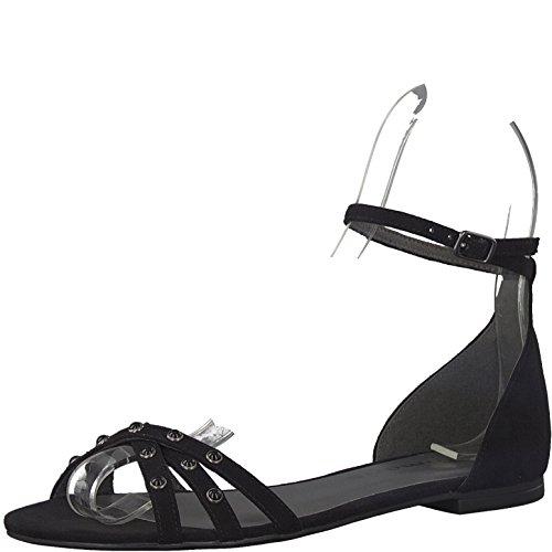 Tamaris 1-1-28183-38 Damen Sandale, Sandalette, Riemchen-Sandale, Sommerschuh für die modebewusste Frau schwarz (BLACK), EU 41 (Schuhe Schwarz Navy Hose)