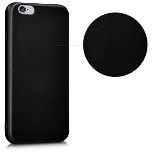 kwmobile Hülle für Apple iPhone 6 / 6S - TPU Silikon Backcover Case Handy Schutzhülle - Cover Metallic Rosegold .Metallic Schwarz