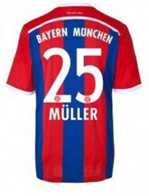 adidas FC Bayern München Trikot Home WC Herren 2014 / 2015 - MÜLLER 25, Größe:L