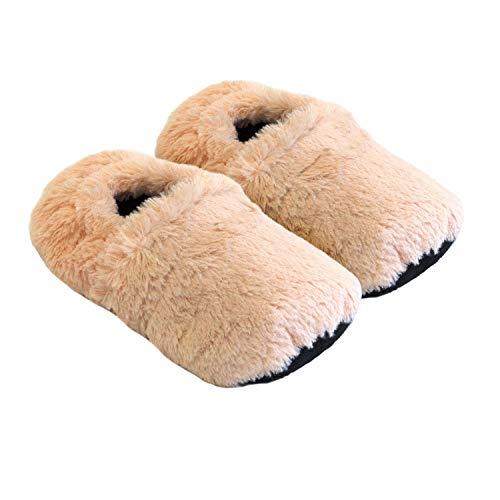 Thermo Sox aufheizbare Hausschuhe für Mikrowelle und Ofen - Mikrowellenhausschuhe Wärmepantoffeln Wärmehausschuhe Wärmeschuhe Fußwärmer Supersoft, Größe:36/40 EU, Farbe:Apricot Sox-falle