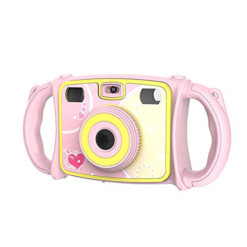 True-Ying Kids Anti-Goccia Digital Action Camera 4x Digital Zoom, Doppia Fotocamera Video 1080p HD Video registratore videocamera per Bambini 5,1cm Schermo LCD