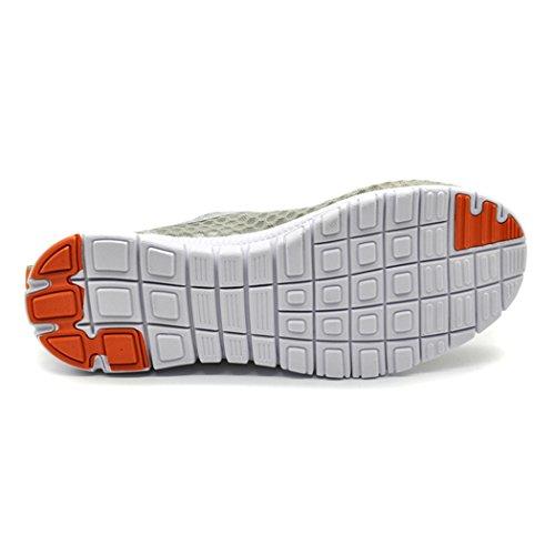 daillor Damen & Herren-Mesh Schuhe, ULTRALIGHT atmungsaktiv Laufschuhe Orange