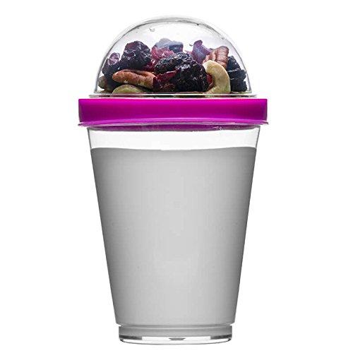 Sagaform polysthyrene Kunststoff Joghurt Tasse mit Speicher, pink