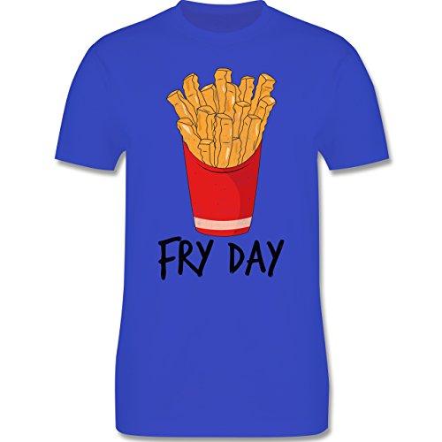 Shirtracer Statement Shirts - Fry Day - Pommes Frites - Herren T-Shirt  Rundhals Royalblau