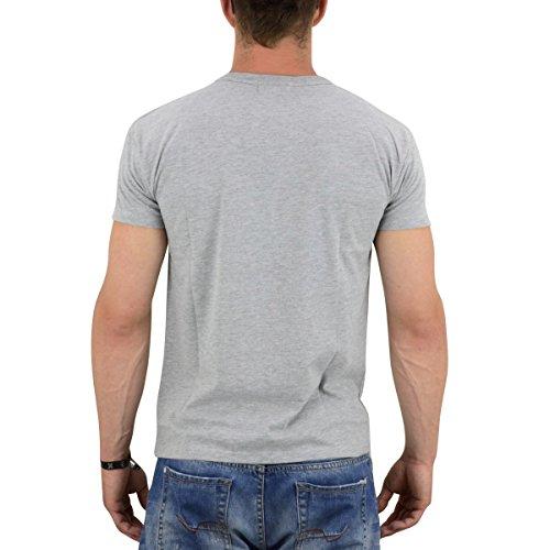 Derbe Hamburg Herren T-Shirt Mirage grau meliert - figurbetonter Schnitt Grau Meliert