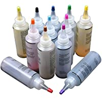 Kit de tinte de 12 colores, no tóxico, tinte de corbata permanente, tinte para camisa, tinte para tela para amigos de familia, niños, suministros para fiestas divertidas